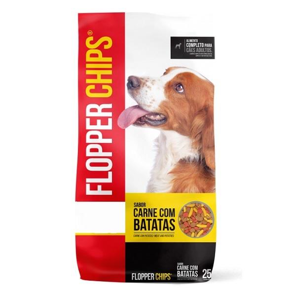 Ração Flopper Chips Carne com Batatas para Cães Adultos