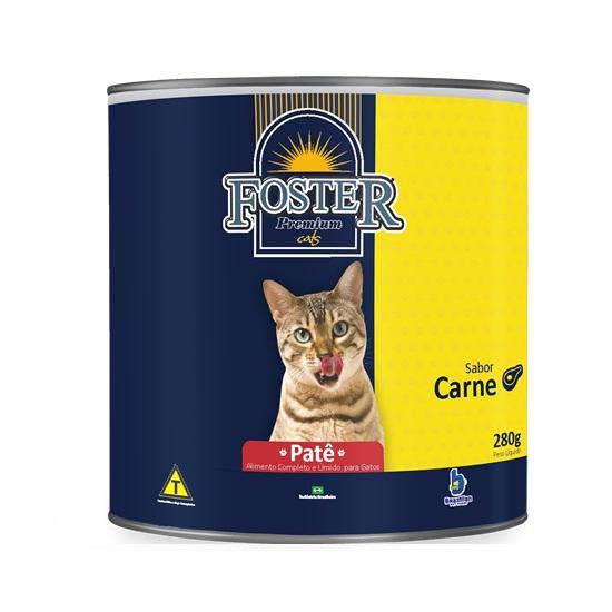 Ração foster lata carne pate para gatos 280g