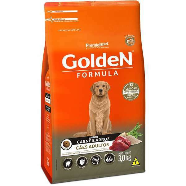 Ração Golden Formula Carne e Arroz para Cães Adultos
