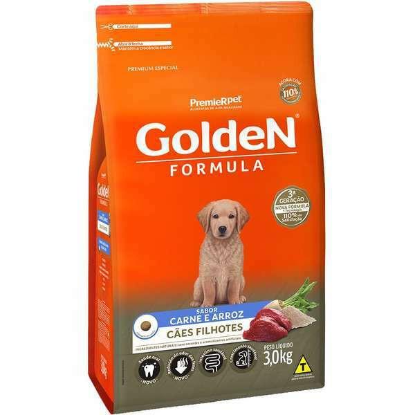 Ração Golden Formula Carne e Arroz para Cães Filhotes