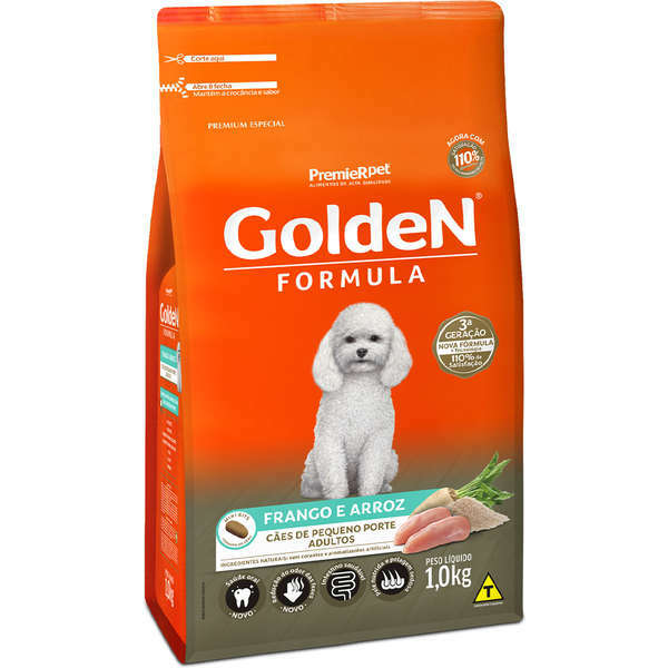 Ração Golden Formula Frango e Arroz Mini Bits para Cães Adultos