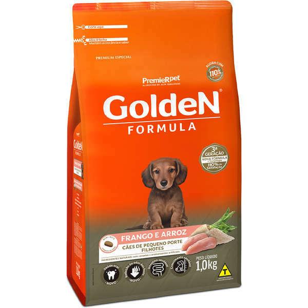 Ração Golden Formula Frango e Arroz Mini Bits para Cães Filhotes