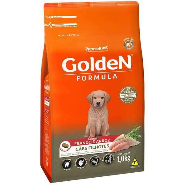 Ração Golden Formula Frango e Arroz para Cães Filhotes