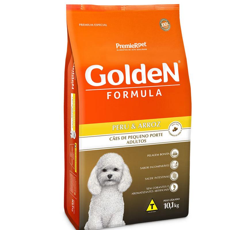 Ração golden formula peru e arroz mini bits para cães adultos 10kg