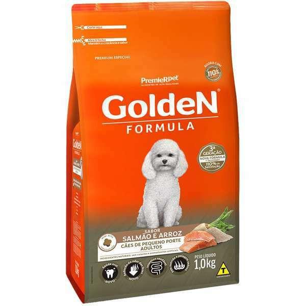 Ração Golden Formula Salmão e Arroz Mini Bits para Cães Adultos