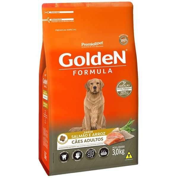 Ração Golden Formula Salmão e Arroz para Cães Adultos