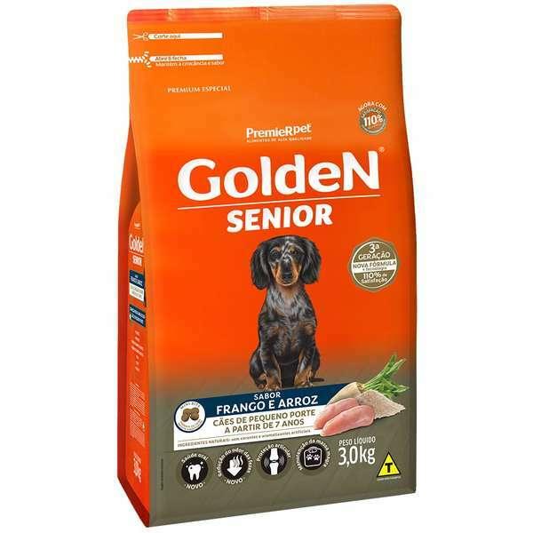 Ração Golden Formula Senior Frango e Arroz Mini Bits para Cães Adultos