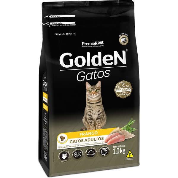 Ração Golden Gatos Frango para Gatos Adultos