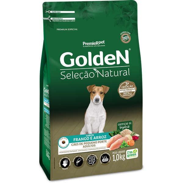Ração Golden Seleção Natural Frango e Arroz Mini Bits para Cães Adultos