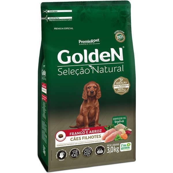 Ração Golden Seleção Natural Frango e Arroz para Cães Filhotes
