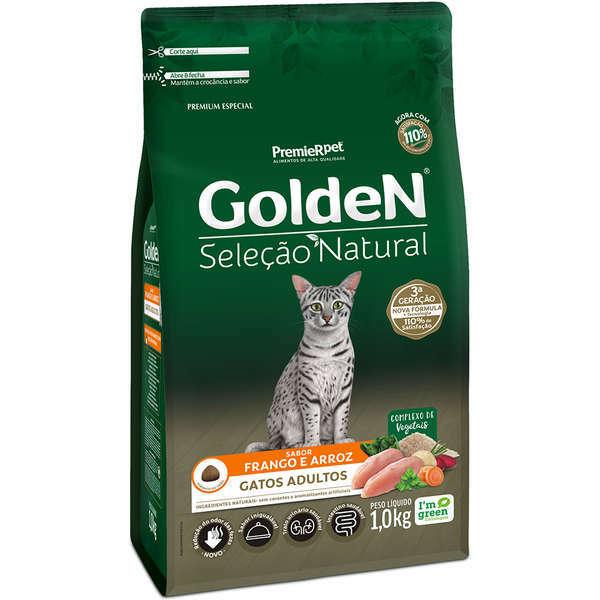 Ração Golden Seleção Natural Frango e Arroz para Gatos Adultos