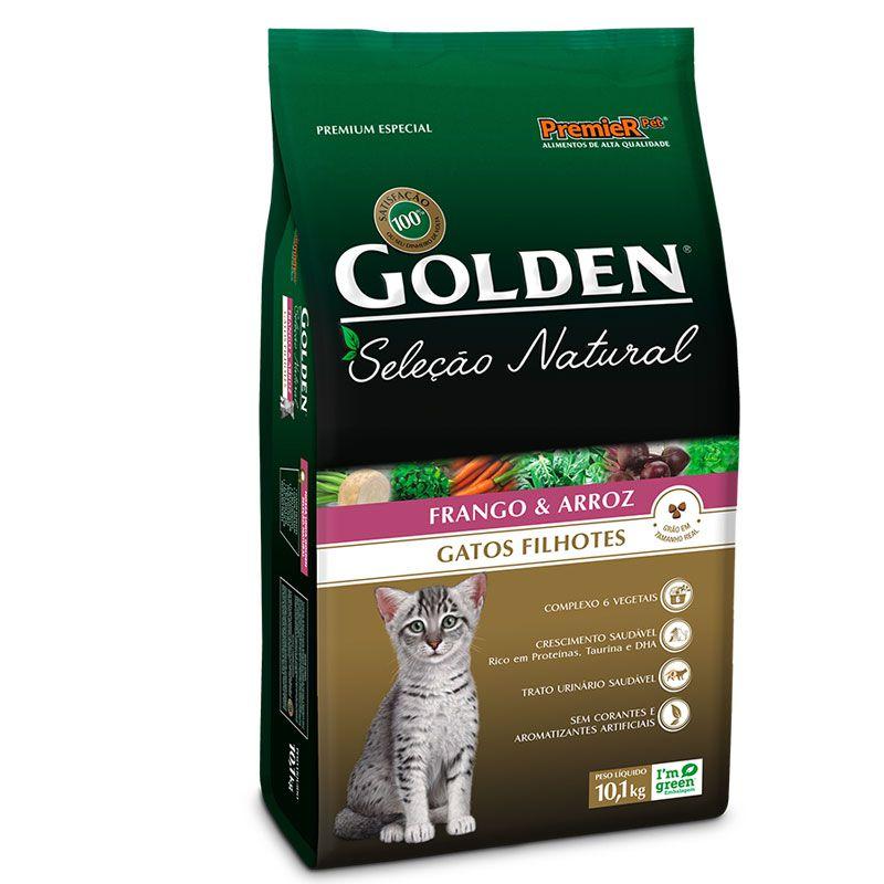 Ração Golden Seleção Natural Frango e Arroz para Gatos Filhotes