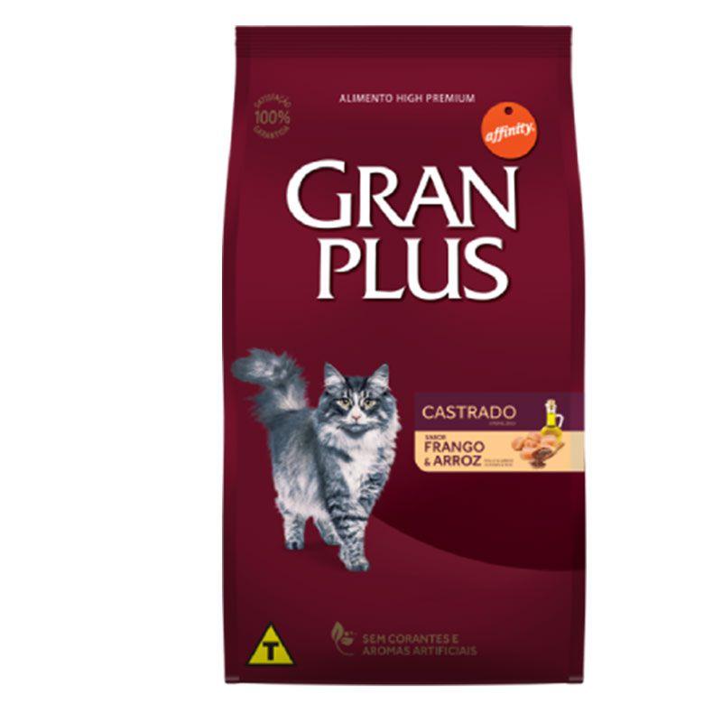 Ração Gran Plus Castrados Frango e Arroz para Gatos Adultos