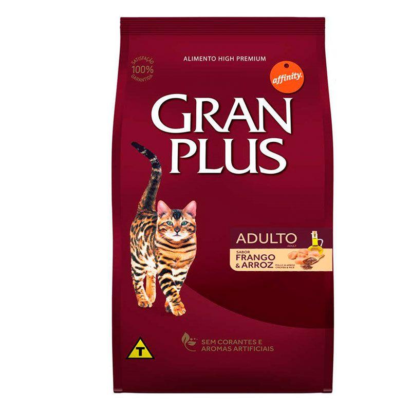 Ração Gran Plus Frango e Arroz para Gatos Adultos