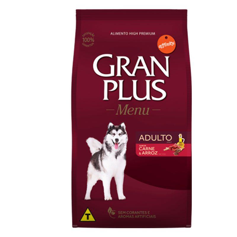 Ração Gran Plus Menu Carne e Arroz para Cães Adultos