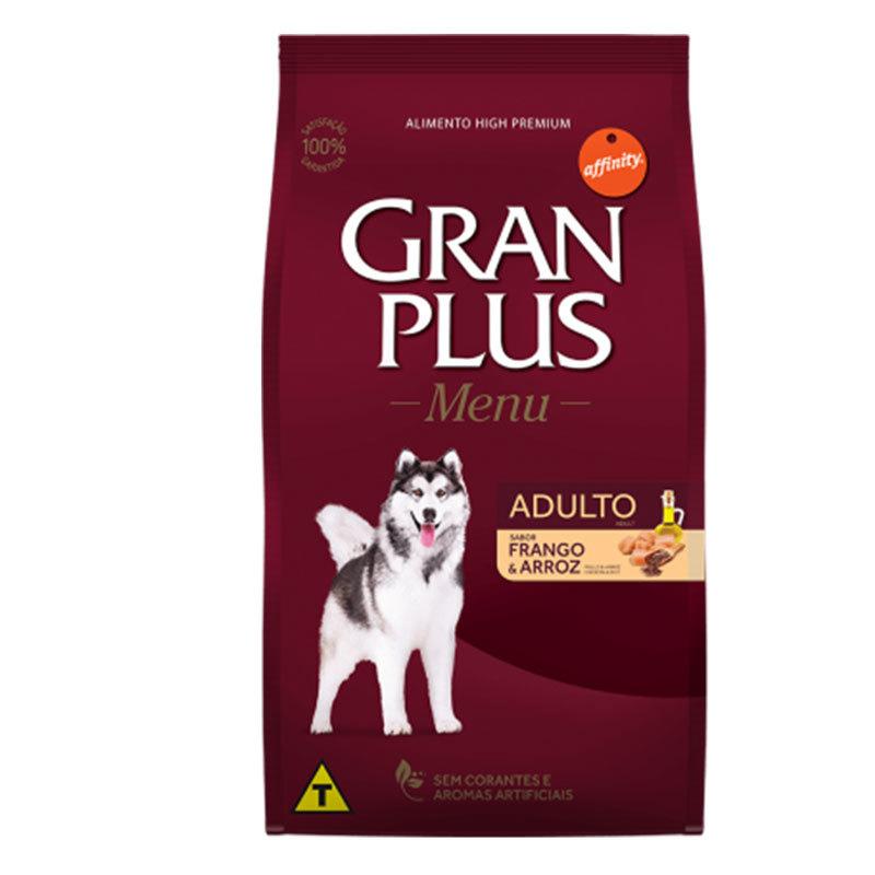 Ração gran plus menu frango e arroz para cães adultos 15kg