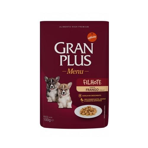 Ração gran plus menu sache frango para cães filhotes 100g