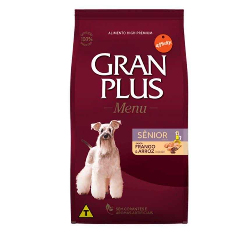 Ração Gran Plus Menu Sênior Frango e Arroz para Cães Adultos
