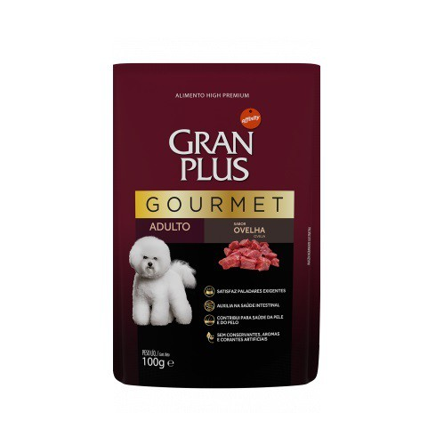 Ração gran plus sache gourmet ovelha para cães 100g
