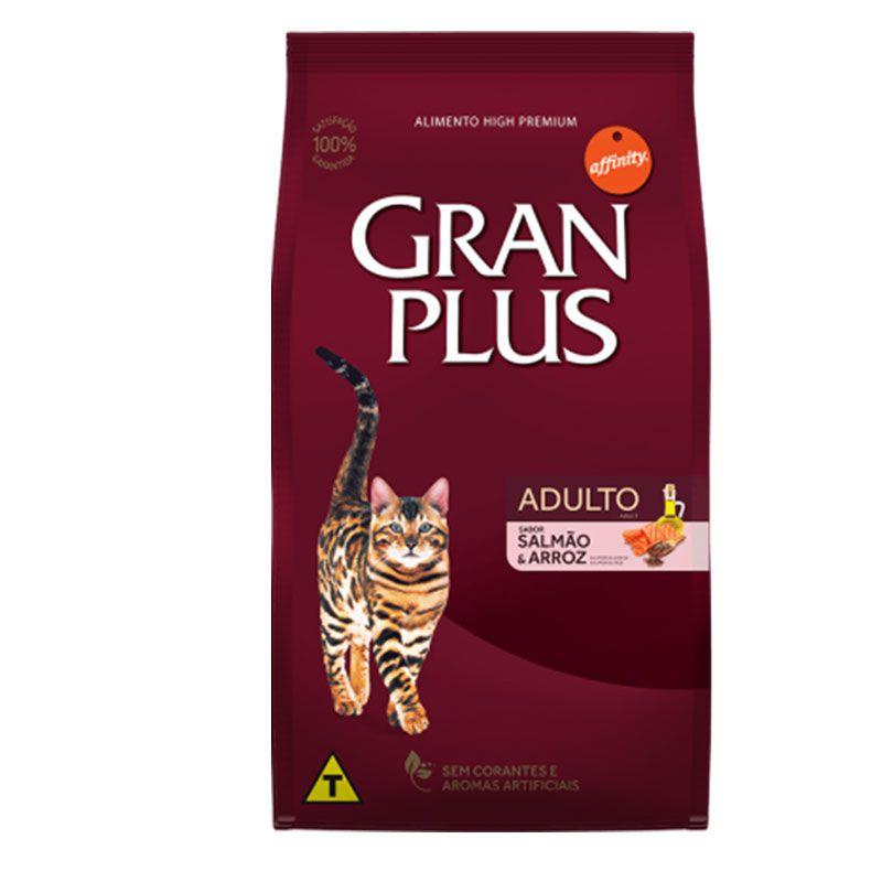 Ração Gran Plus Salmão e Arroz para Gatos Adultos