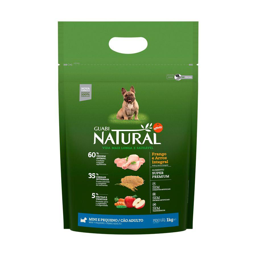 Ração Guabi Natural Frango e Arroz Integral para Cães Adultos Porte Mini e Pequeno