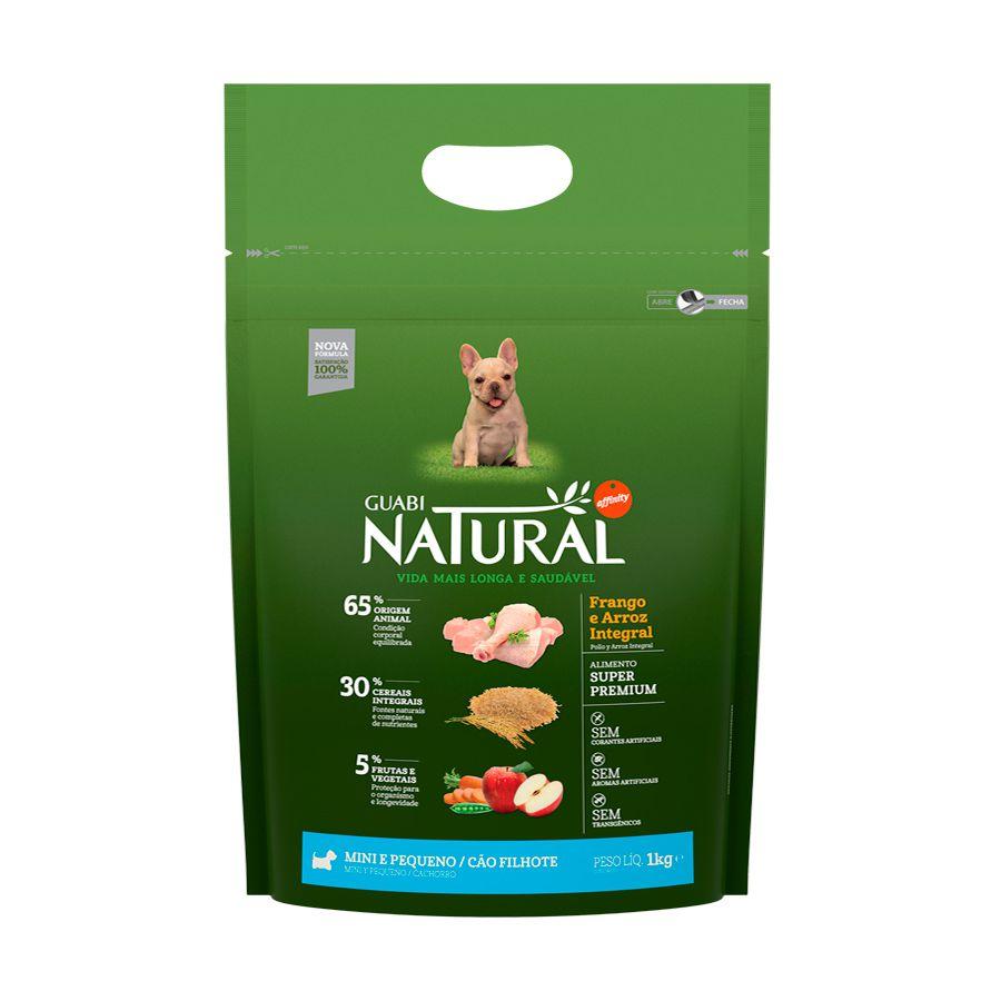 Ração Guabi Natural Frango e Arroz Integral para Cães Filhotes Porte Mini e Pequeno