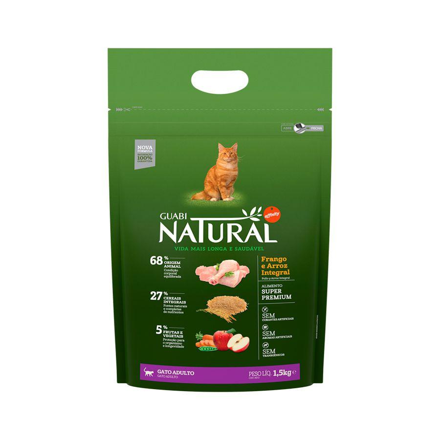 Ração Guabi Natural Frango e Arroz Integral para Gatos Adultos