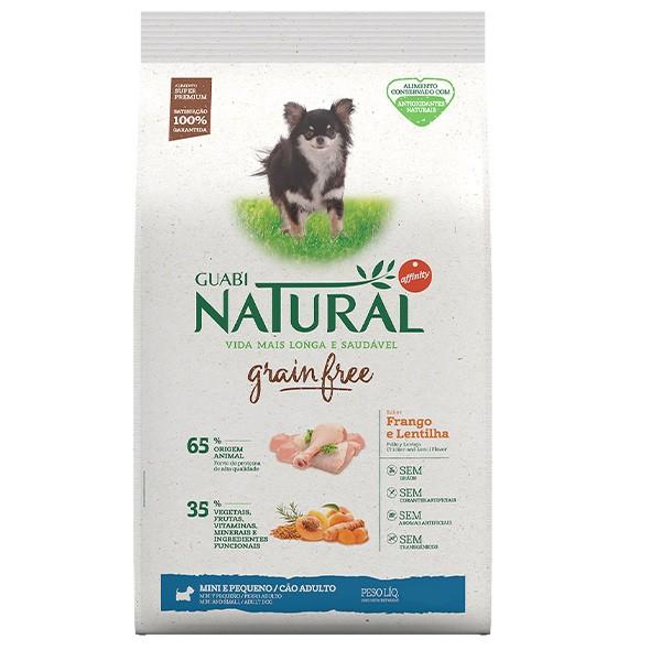 Ração Guabi Natural Grain Free Frango e Lentilha para Cães Adultos Raças Pequenas