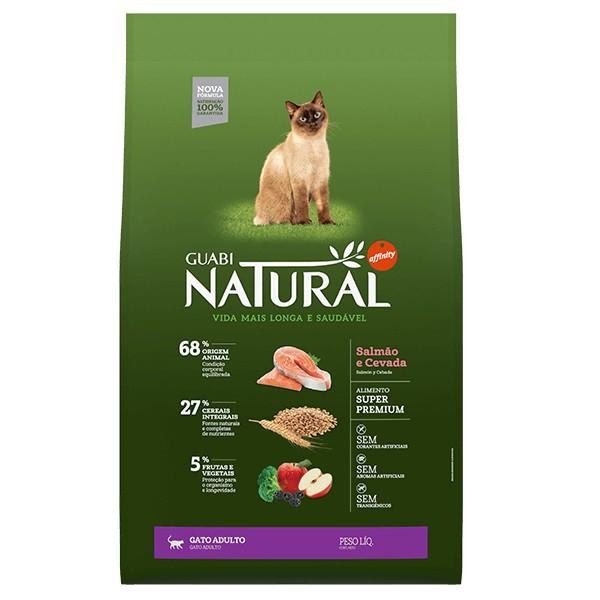 Ração Guabi Natural Salmão e Cevada para Gatos Adultos