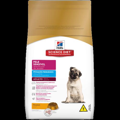 Ração hills cães adultos pele sensível pedaços pequenos 2.5kg