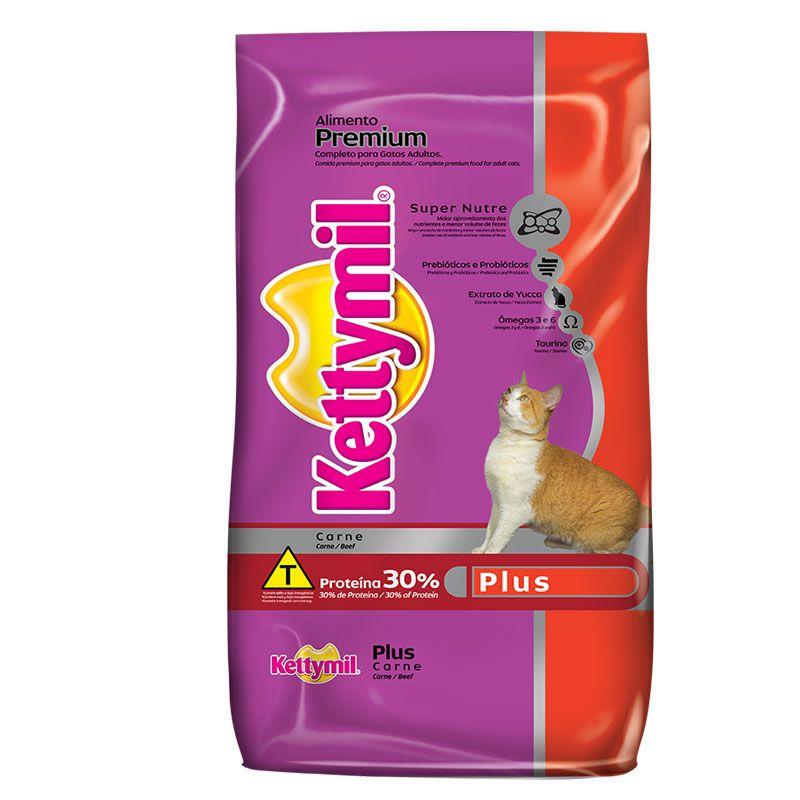 Ração Kettymil Plus Carne para Gatos Adultos