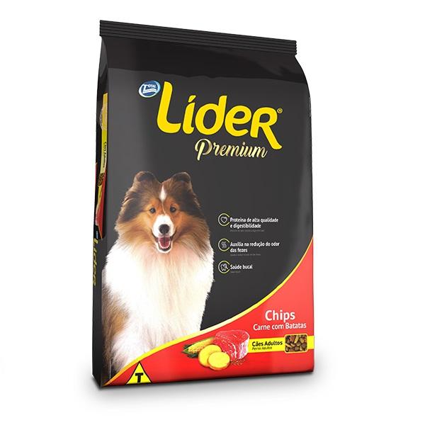Ração Líder Chips para Cães Adultos Sabor Carne com Batatas 15kg