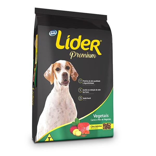 Ração Líder para Cães Adultos Sabor Carne com Vegetais