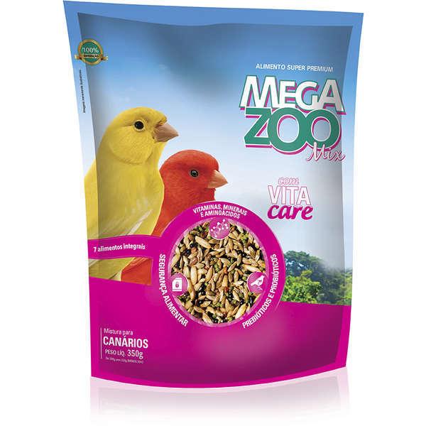 Ração megazoo mix para canários 350g