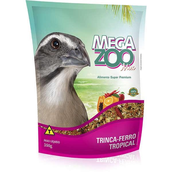 Ração megazoo mix trinca ferro tropical 350g