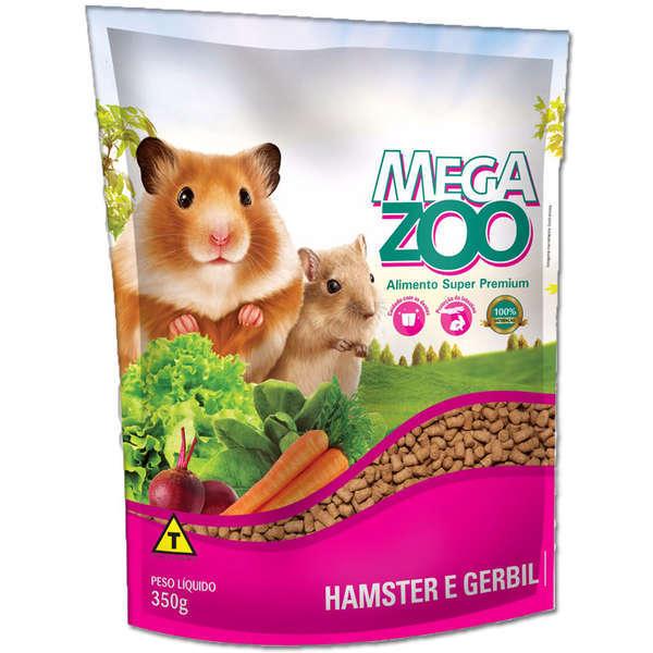 Ração megazoo para hamster e gerbil 350g