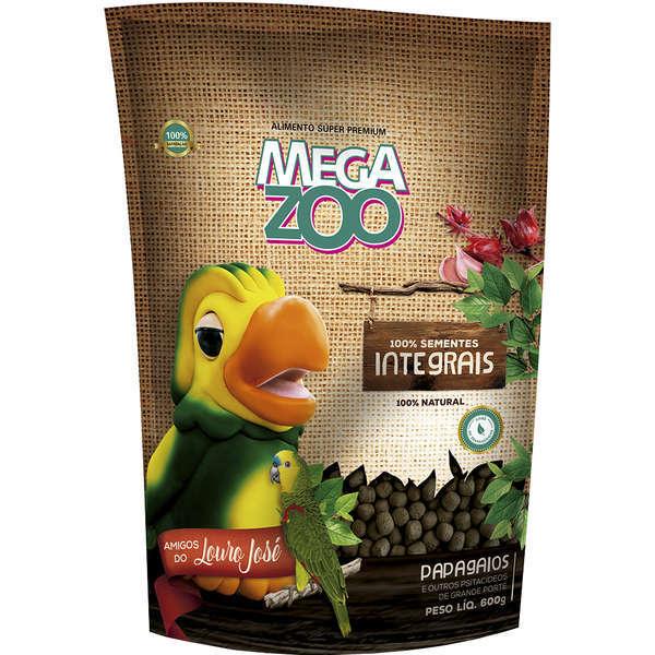 Ração megazoo para papagaio integral amigo louro jose 600g