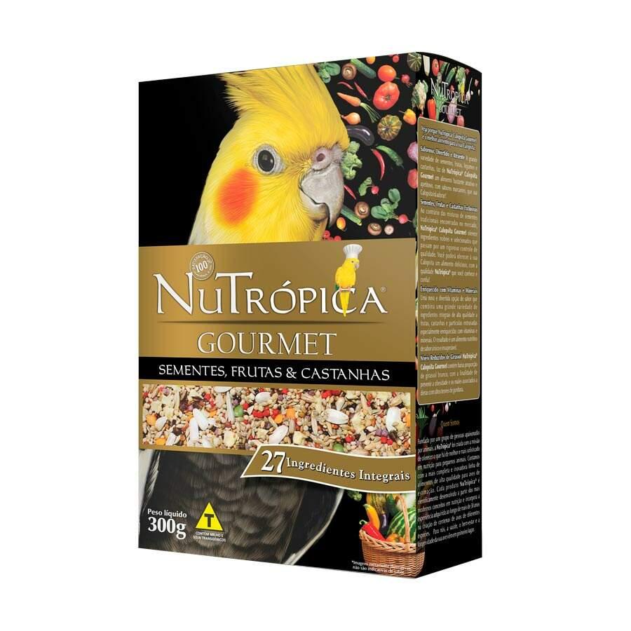 Ração Nutrópica Gourmet Sementes, Frutas e Castanhas para Calopsitas