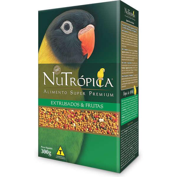 Ração nutrópica para agapornis com frutas 300g