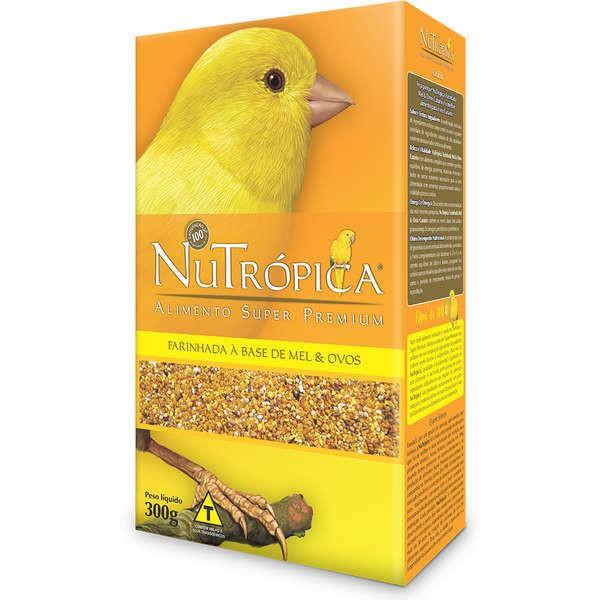 Ração nutrópica para canário com mel e ovos 300g