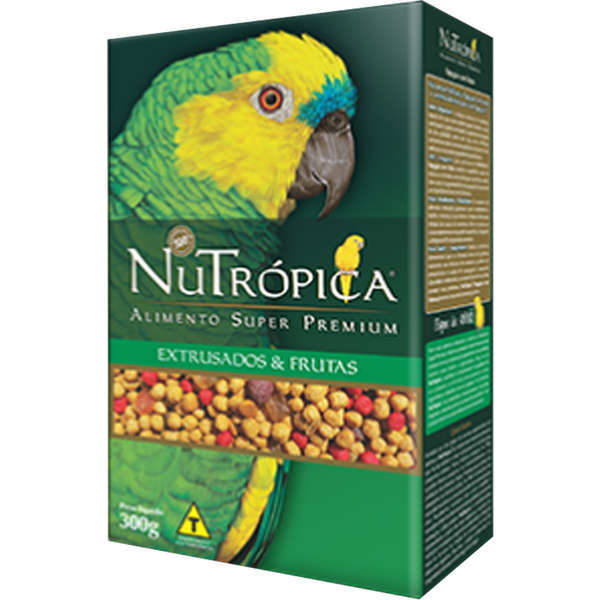 Ração nutrópica para papagaio com frutas