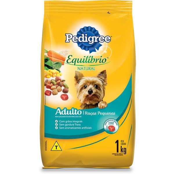 Ração pedigree equilibrio adulto para cães raças pequenas