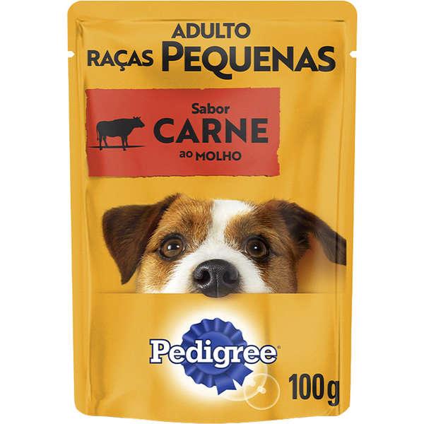Ração pedigree sache carne para cães adulto raças pequenas 100g