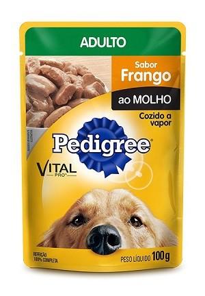 Ração pedigree sache frango para cães adulto 100g