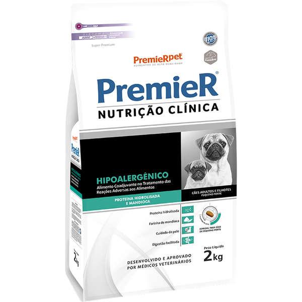 Ração Premier Nutrição Clínica Hipoalergênico Hidrolisada para Cães Raças Pequenas