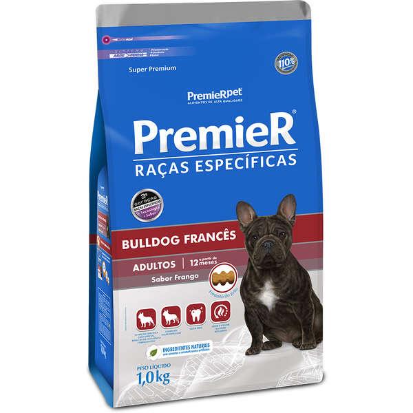 Ração Premier Raças Específicas Bulldog Francês Frango para Cães Adultos