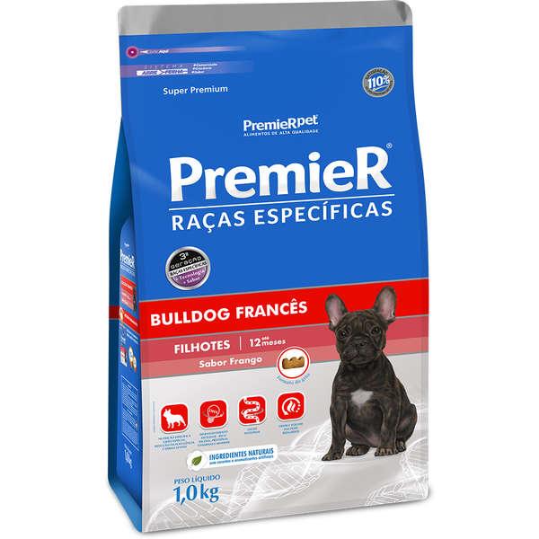 Ração Premier Raças Específicas Bulldog Francês Frango para Cães Filhotes