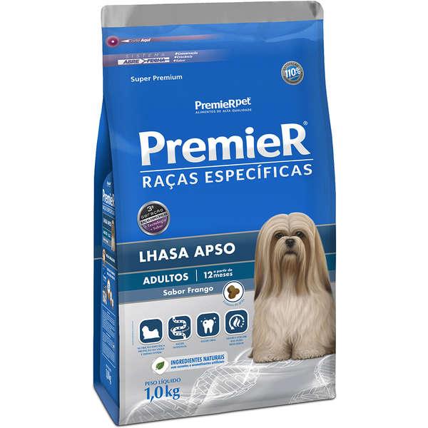 Ração Premier Raças Específicas Lhasa Apso Frango para Cães Adultos