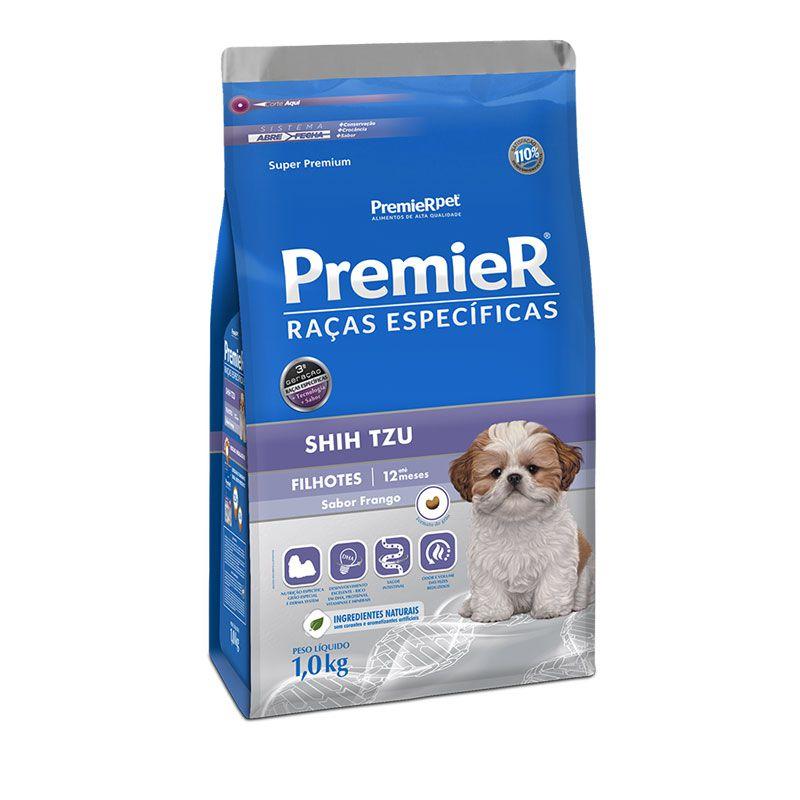 Ração Premier Raças Específicas Shih Tzu Frango para Cães Filhotes