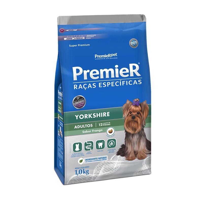 Ração Premier Raças Específicas Yorkshire Frango para Cães Adultos